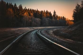 Train Rail during Golden Hour