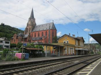 Train station in Oberwesel, Germany