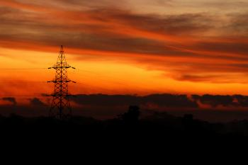 Transmission Tower during Golden Hour