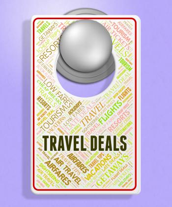 Travel Deals Represents Holiday Discount And Sign