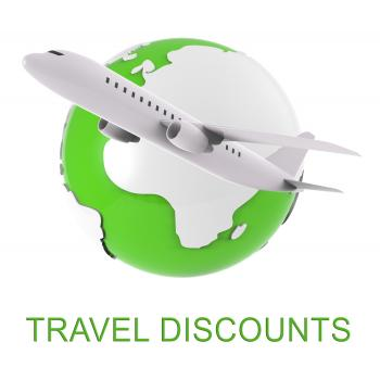 Travel Discounts Indicates Journey Reduction 3d Rendering