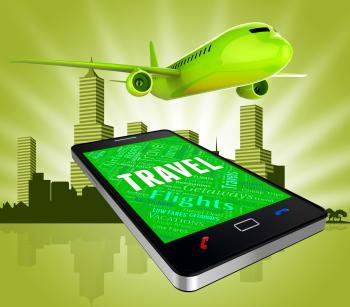 Travel Flights Shows Web Site And Aircraft