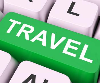 Travel Key Means Explore Or Journeys
