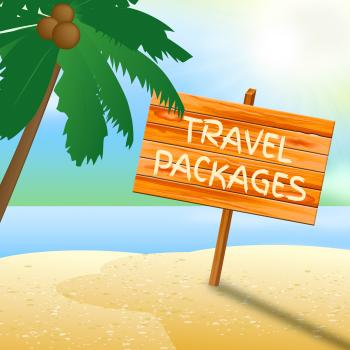 Travel Packages Indicates Go On Leave And Arranged