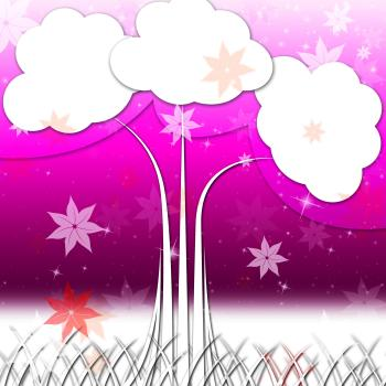 Tree Background Means Nature Outside And Flowers