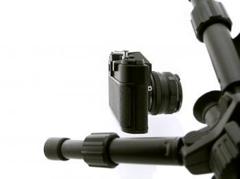 Tripod and camera