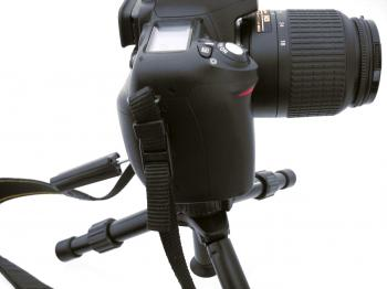 Tripod with camera
