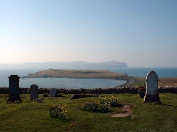 Trumpan Churchyard and the sea