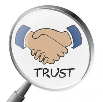Trust Magnifier Means Believe In And Belief