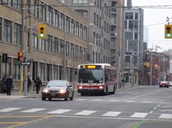 TTC bus on Sherbourne, 2015 01 24 (2)