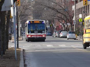 TTC buses on The Esplanade, 2015 01 23 (8)