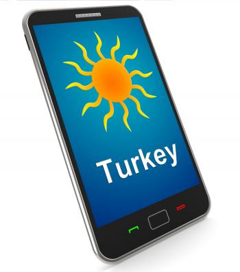 Turkey On Mobile Means Holidays And Sunny Weather