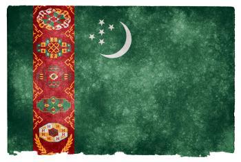 Turkmenistan Grunge Flag