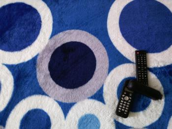 TV Remote Control and Telephone