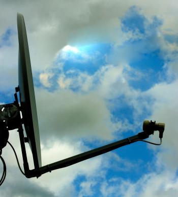 Tv Satellite Dish For Communications