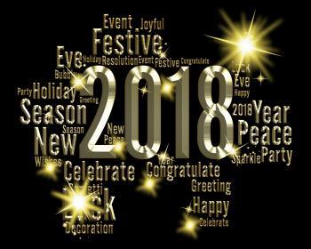 Twenty Eighteen Means 2018 Festive Happy New Year
