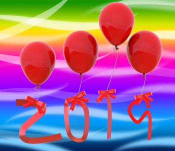 Twenty Nineteen Means Year 2019 And Celebrating