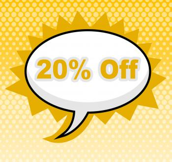 Twenty Percent Off Represents Sign Retail And Promotional