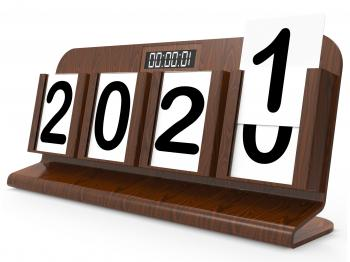 Twenty Twenty One Shows 2021 New Year 3d Rendering