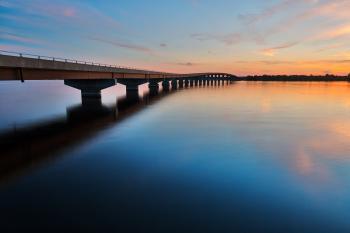 Twilight Interstate Bridge - HDR