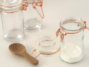 Two Clear Glass Jars
