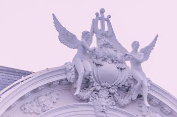 Two Female Angel Statue