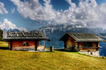 Two Wooden Cabins