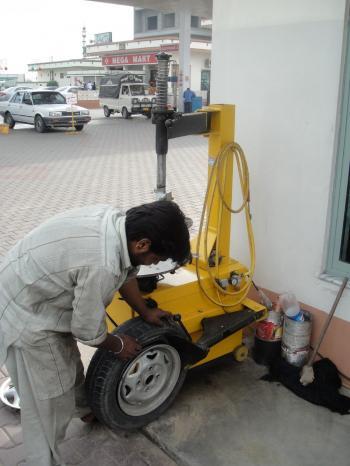 Tyre workshop