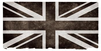 UK Grunge Flag - Black and White