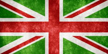 UK Grunge Flag - Christmas Colors
