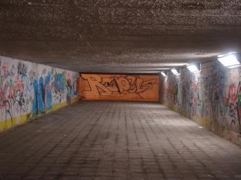 Underpass at night