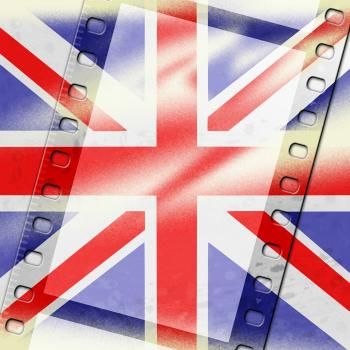 Union Jack Represents British Flag And Background