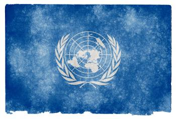 United Nations Grunge Flag