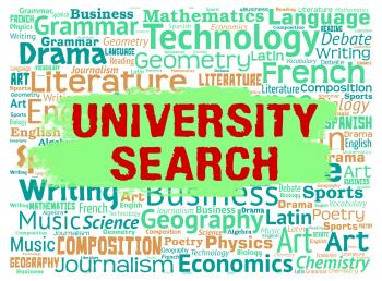 University Search Shows Educational Establishment And College