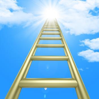 Up Ladders Indicates Raise Improvement And Improve