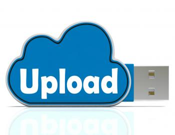 Upload Cloud Pen drive Means Website Uploading And Data Transfer