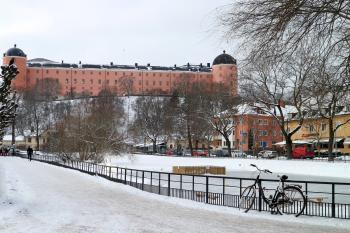Uppsala slott och Svandammen i Uppsala