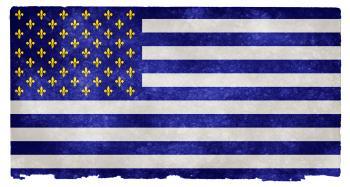 USA Fleur-de-Lys Grunge Flag