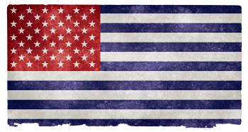 USA Grunge Flag - Inverted