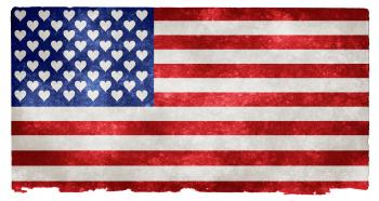USA Love Grunge Flag