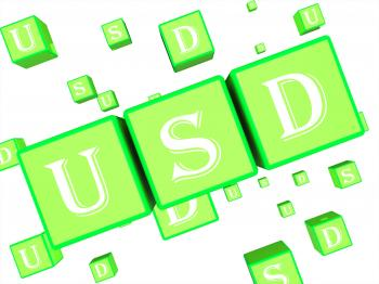 Usd Dice Represents United States Dollar 3d Rendering