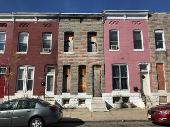 Vacant rowhouse, 2430 Brentwood Avenue, Baltimore, MD 21218