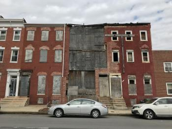 Vacant rowhouses, 1050-1056 W. Fayette Street, Baltimore, MD 21223