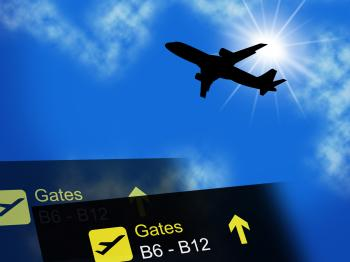 Vacation Abroad Indicates Aeroplane Plane And Fly