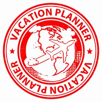 Vacation Planner Shows Vacational Organizing And Diary