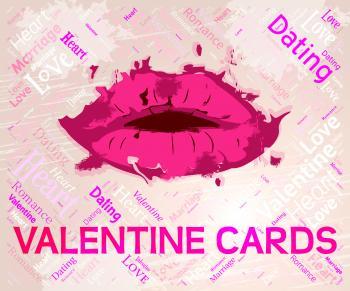 Valentine Cards Means Valentines Day And Boyfriend