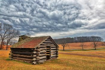 Valley Forge Cabin Cloudscape - HDR