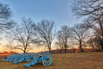 Valley Forge Cannon Twilight - HDR