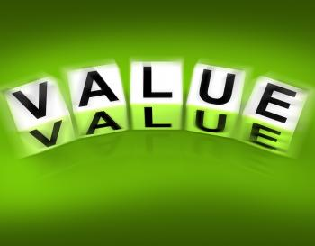 Value Blocks Displays Importance Significance and Worth