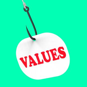 Values On Hook Means Ethical Values Or Morality